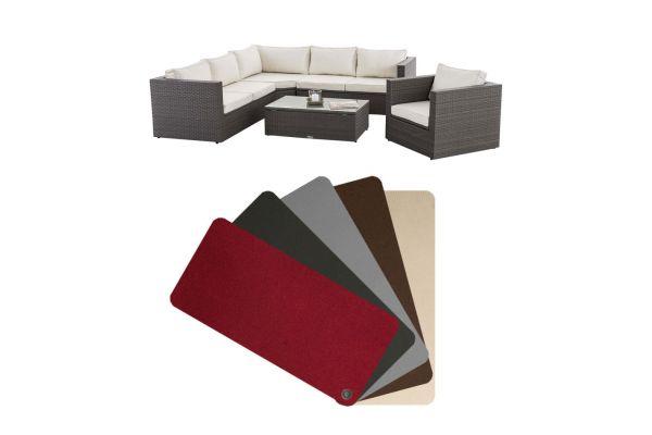 Lot de 13 Housses de coussins ensemble de meubles Tibera