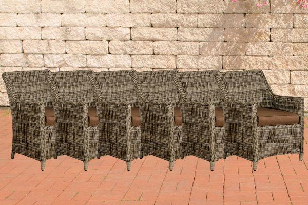 Lot de 6 fauteuils de jardin Sandnes