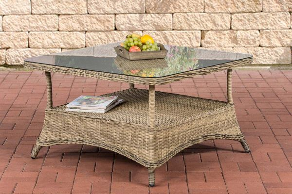 Table de jardin Pandora plateau en verre