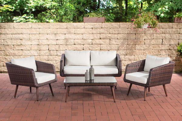 Set de meubles de lounge TROSA en poly rotin plat