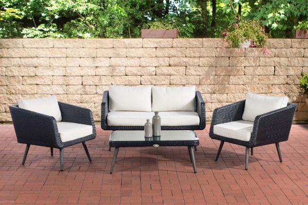Set de meubles de lounge Trosa noir