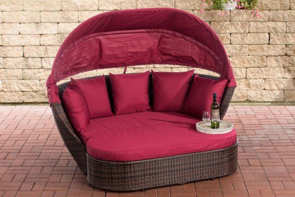 Canapé de Jardin Rivoli avec pouf repose-pieds