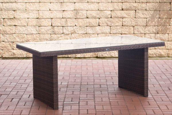 Tisch Avignon 180 cm braun-meliert
