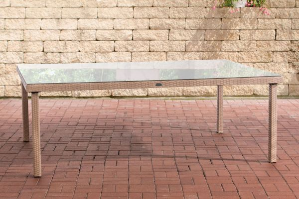 Table de jardin en polyrotin Pizzo/Tropea