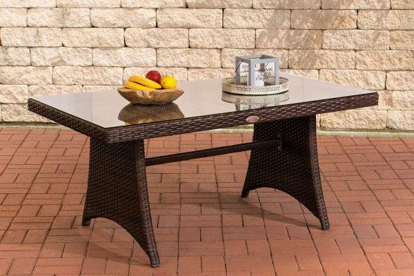 Table de jardin en polyrotin Sorano 138x80 cm