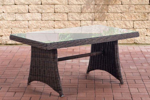 Table de jardin en polyrotin Sorano 5 mm