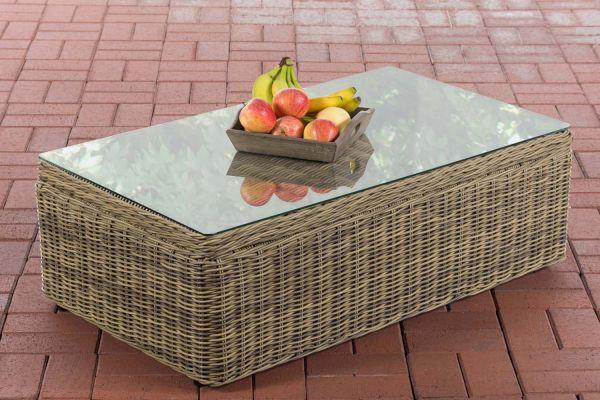 Table basse pour salon d'extérieur Tibera 5mm en polyrotin